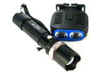 Аккумуляторный ручной фонарь + налобный фонарь H-503H