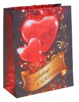Пакет ламинированный С любовью с тиснением