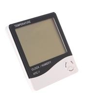 Термометр электронный с часами HTC-1.